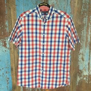 Daniel Cremieux Blue & Red Short Sleeve Shirt